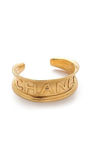 WGACA Vintage Vintage Chanel Gold Cuff