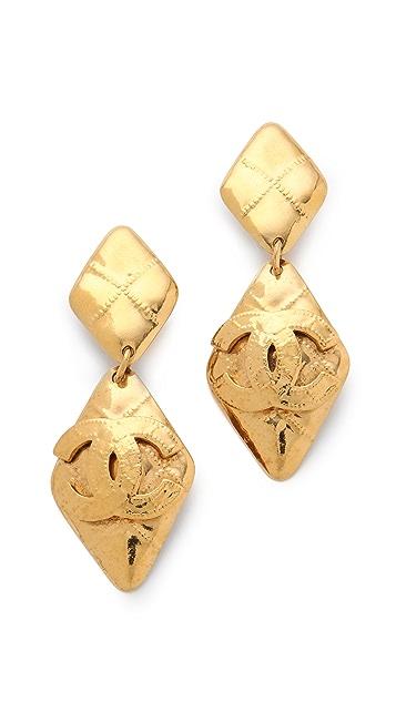 WGACA Vintage Vintage Chanel Quilted Earrings