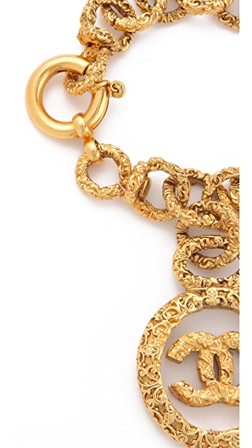 WGACA Vintage Vintage Chanel CC in Glass Bracelet