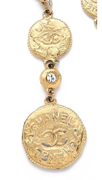 WGACA Vintage Vintage Chanel Coin Crystal Necklace / Belt