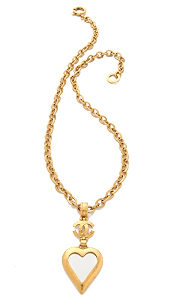 WGACA Vintage Vintage Chanel Hearts & CC Necklace
