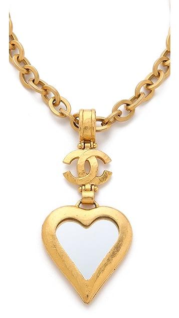 WGACA Vintage Vintage Chanel Hearts & CC Necklace