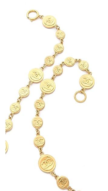 WGACA Vintage Vintage Chanel CC & Coins Necklace
