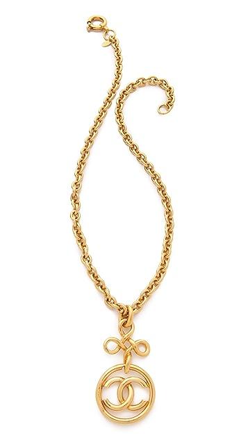 WGACA Vintage Vintage Chanel CC Cross Necklace