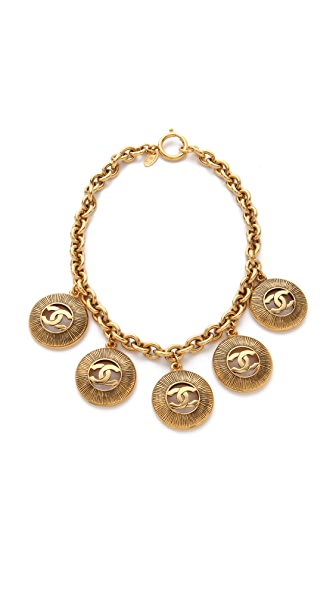 WGACA Vintage Vintage Chanel CC Coin Necklace