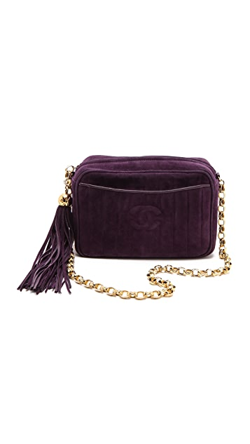 WGACA Vintage Vintage Chanel Suede Shoulder Bag