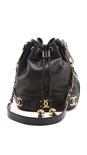 WGACA Vintage Vintage Chanel Lamb Bucket Bag