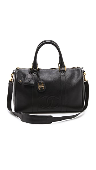 WGACA Vintage Vintage Chanel Caviar Boston Bag