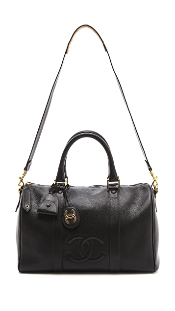 WGACA Vintage Vintage Chanel Caviar Boston Bag
