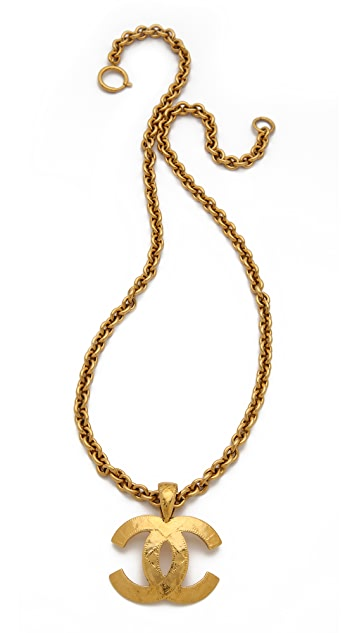 WGACA Vintage Vintage Chanel Quilted CC Necklace