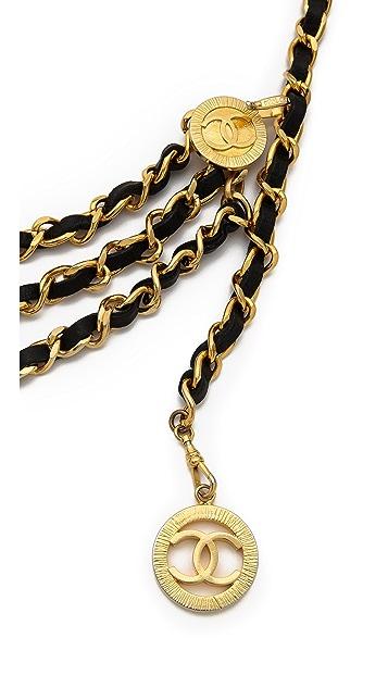 WGACA Vintage Vintage Chanel Letter 3 Tier Belt
