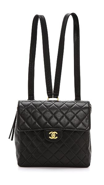 WGACA Vintage Vintage Chanel Caviar Flap Backpack