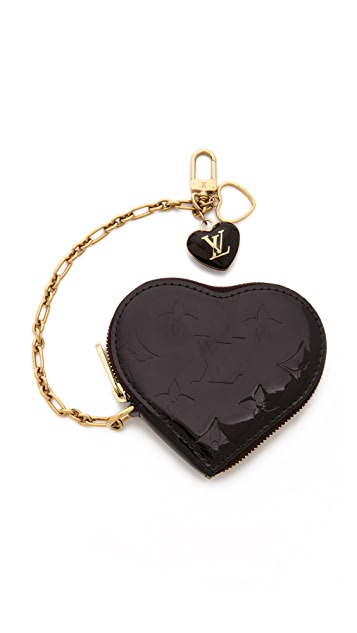 WGACA Vintage Vintage Louis Vuitton Vernis Heart Coin Purse