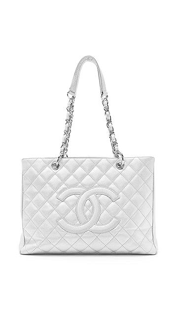 WGACA Vintage Vintage Chanel Metallic Pearl Caviar Bag