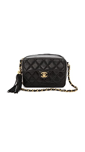 WGACA Vintage Vintage Chanel Small Camera Tassel Bag