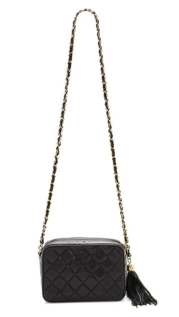 WGACA Vintage Vintage Chanel Small Camera Tassel Bag