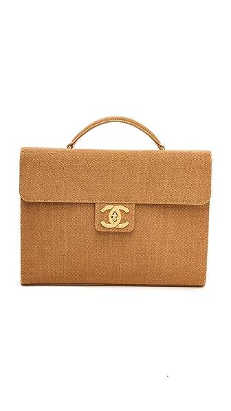 WGACA Vintage Vintage Chanel Canvas Briefcase