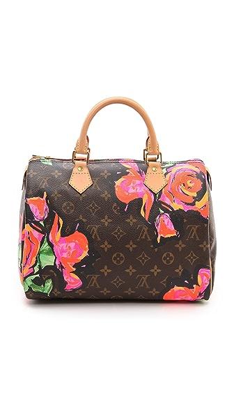 What Goes Around Comes Around Louis Vuitton Mono Sprouse Rose Speedy Bag