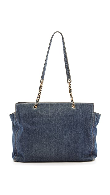 What Goes Around Comes Around Chanel Denim Super Tote