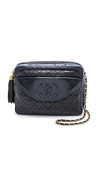 What Goes Around Comes Around Chanel Navy Tassel Bag