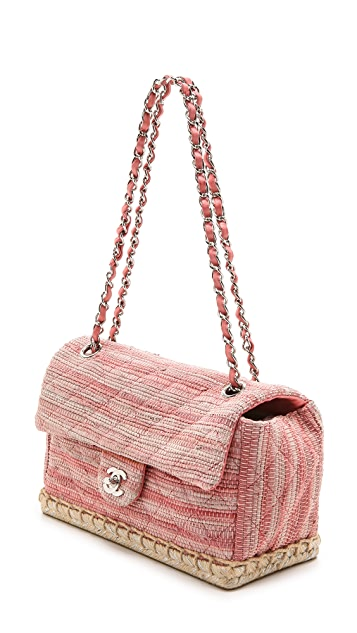 What Goes Around Comes Around Chanel Espadrille Flap Bag