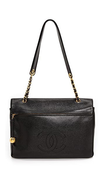 What Goes Around Comes Around Chanel Caviar Jumbo CC Bag