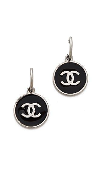 What Goes Around Comes Around Vintage Chanel Enamel Earrings