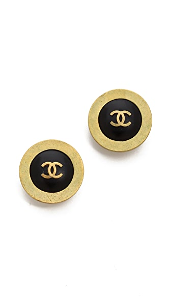 What Goes Around Comes Around Vintage Chanel Clip On Earrings