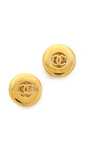 What Goes Around Comes Around Vintage Chanel Round Earrings