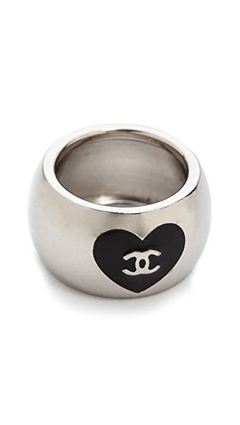 What Goes Around Comes Around Vintage Chanel Heart Ring