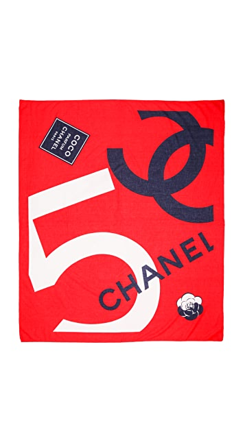 What Goes Around Comes Around Vintage Chanel No. 5 Camelia Scarf