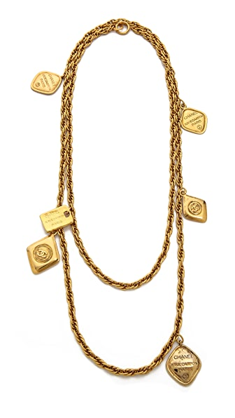 What Goes Around Comes Around Vintage Chanel Charm Necklace