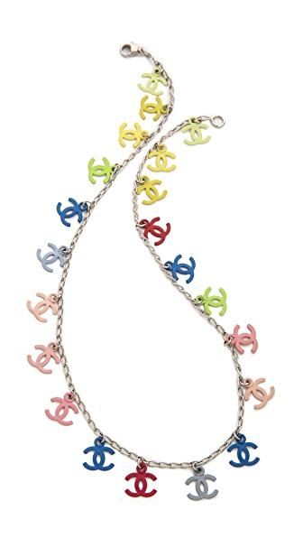What Goes Around Comes Around Vintage Chanel Multicolor CC Necklace