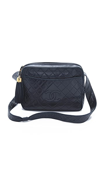 What Goes Around Comes Around Vintage Chanel Extra Large Camera Bag