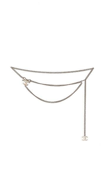 What Goes Around Comes Around Vintage Chanel CC Chain Belt