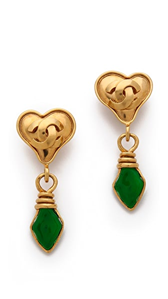 What Goes Around Comes Around Vintage Change Heart Earrings