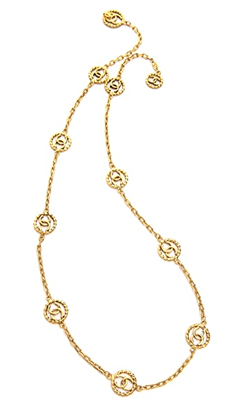 What Goes Around Comes Around Vintage Chanel CC In Circles Necklace