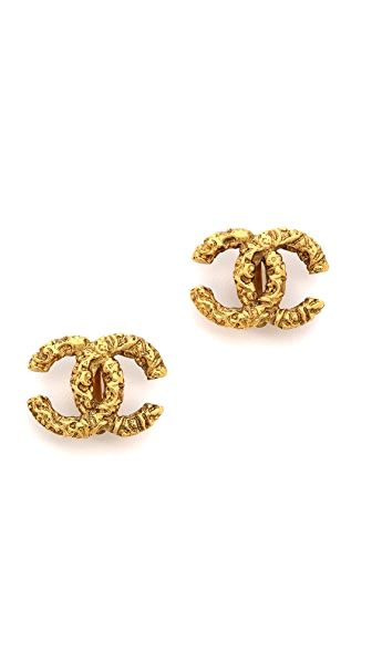 What Goes Around Comes Around Vintage Chanel Florentine CC Earrings