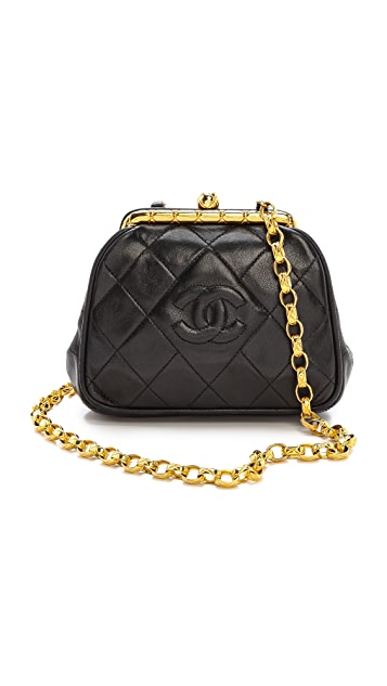 What Goes Around Comes Around Chanel Clutch with Gold Chain