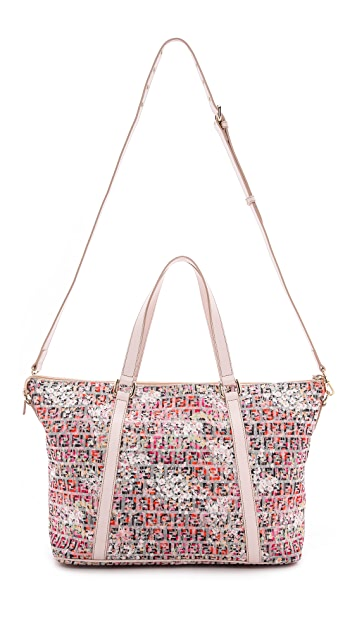 What Goes Around Comes Around Fendi Floral Forever Shopping Bag