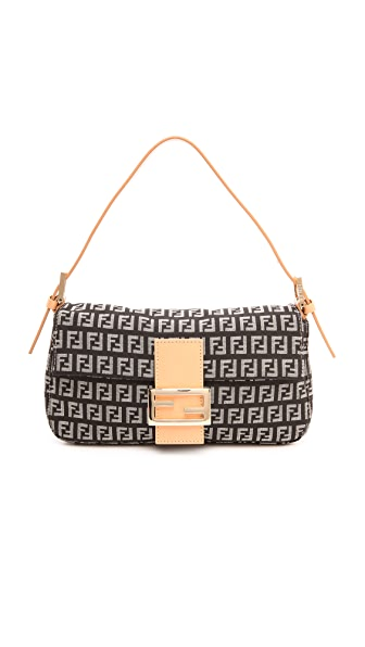 What Goes Around Comes Around Fendi Black Zucca Print Bag