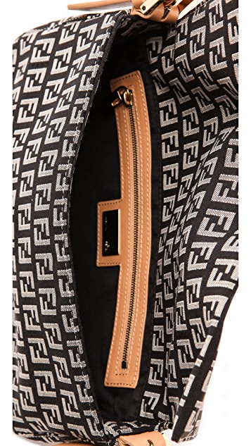 What Goes Around Comes Around Fendi Black Zucca Print Bag
