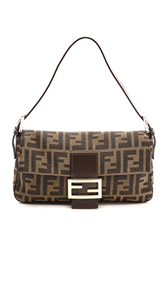 What Goes Around Comes Around Fendi Zucca Baguette Clutch
