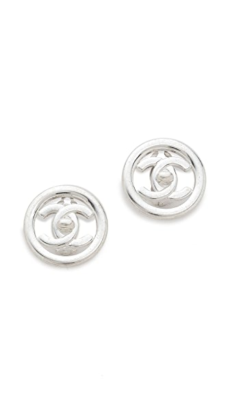 What Goes Around Comes Around Vintage Chanel Circle Earrings