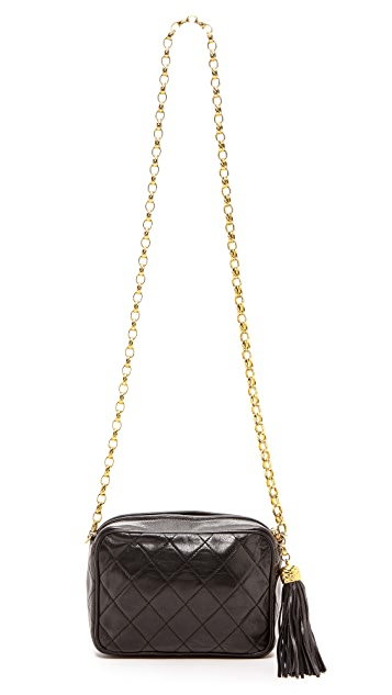 What Goes Around Comes Around Chanel Camera Bag with Tassel