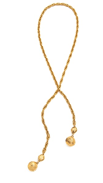 What Goes Around Comes Around Vintage Chanel Lariat Necklace