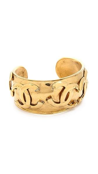 What Goes Around Comes Around Vintage Chanel CC Toss Cuff Bracelet