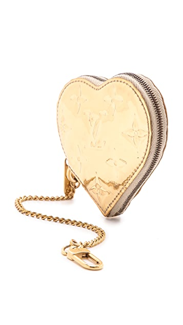 What Goes Around Comes Around Louis Vuitton Mirror Heart Coin Purse