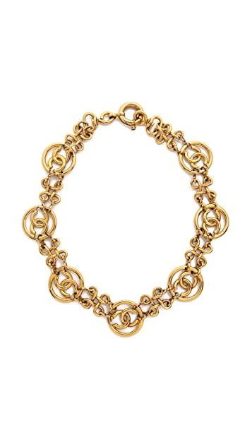 What Goes Around Comes Around Vintage Chanel CC Choker Necklace