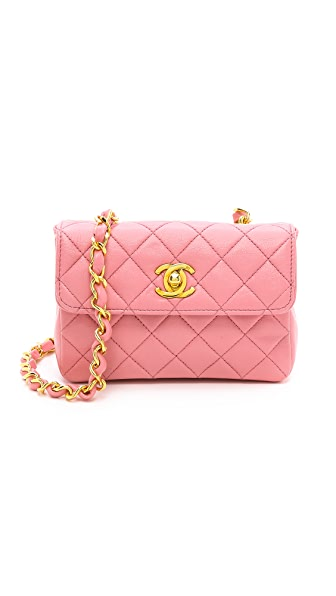 What Goes Around Comes Around Chanel Pink Micro Half Flap Bag